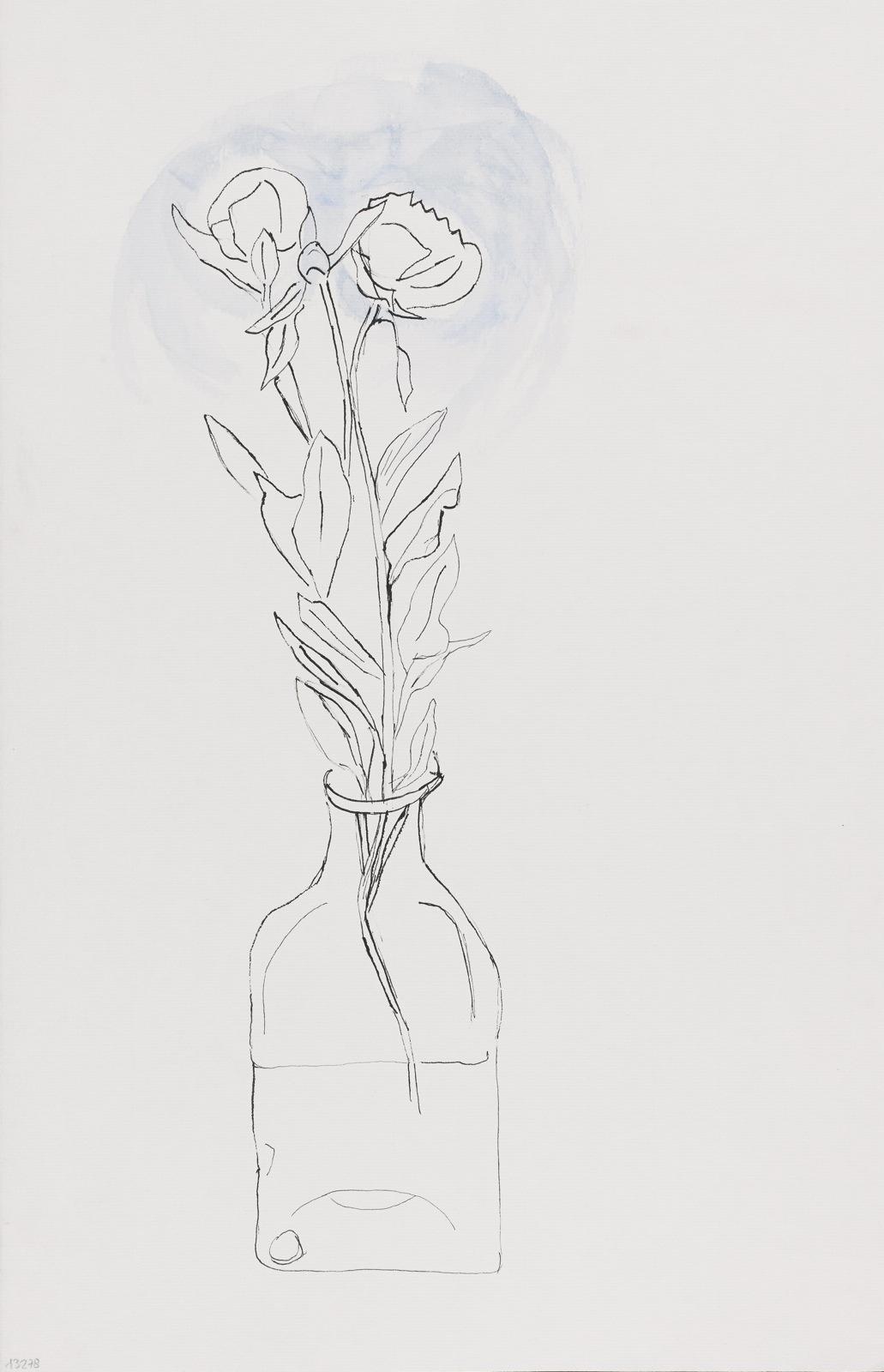 Dessin, encre de chine : Fleurs