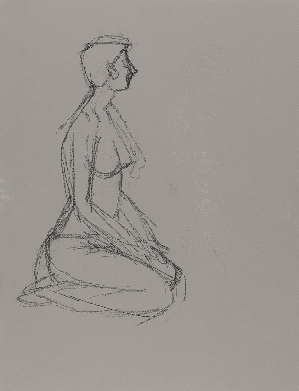 Dessin, crayon : Dame