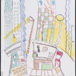 Paysage imaginaire - Dessin - David Kennedy, Artiste Peintre - Paris