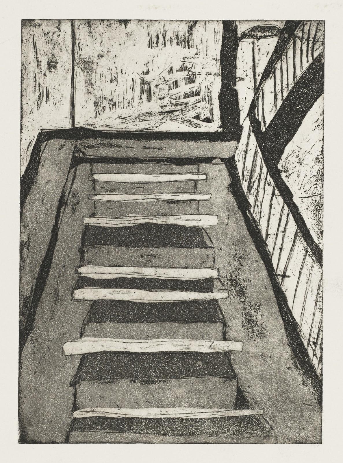 Gravure de David Kennedy - Artiste Peintre Paris : Escalier