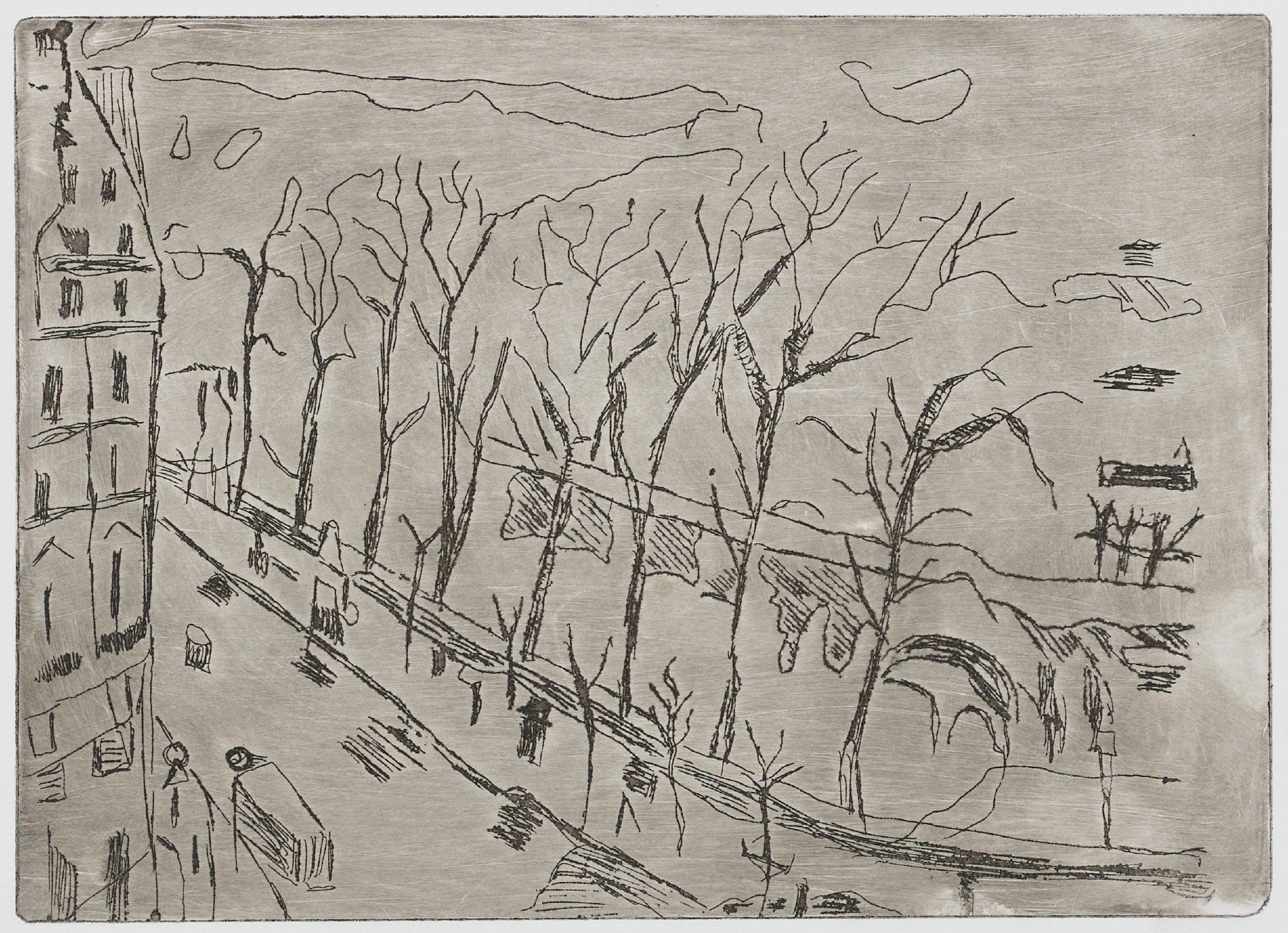Gravures de David Kennedy - Artiste Peintre Paris : Les quais