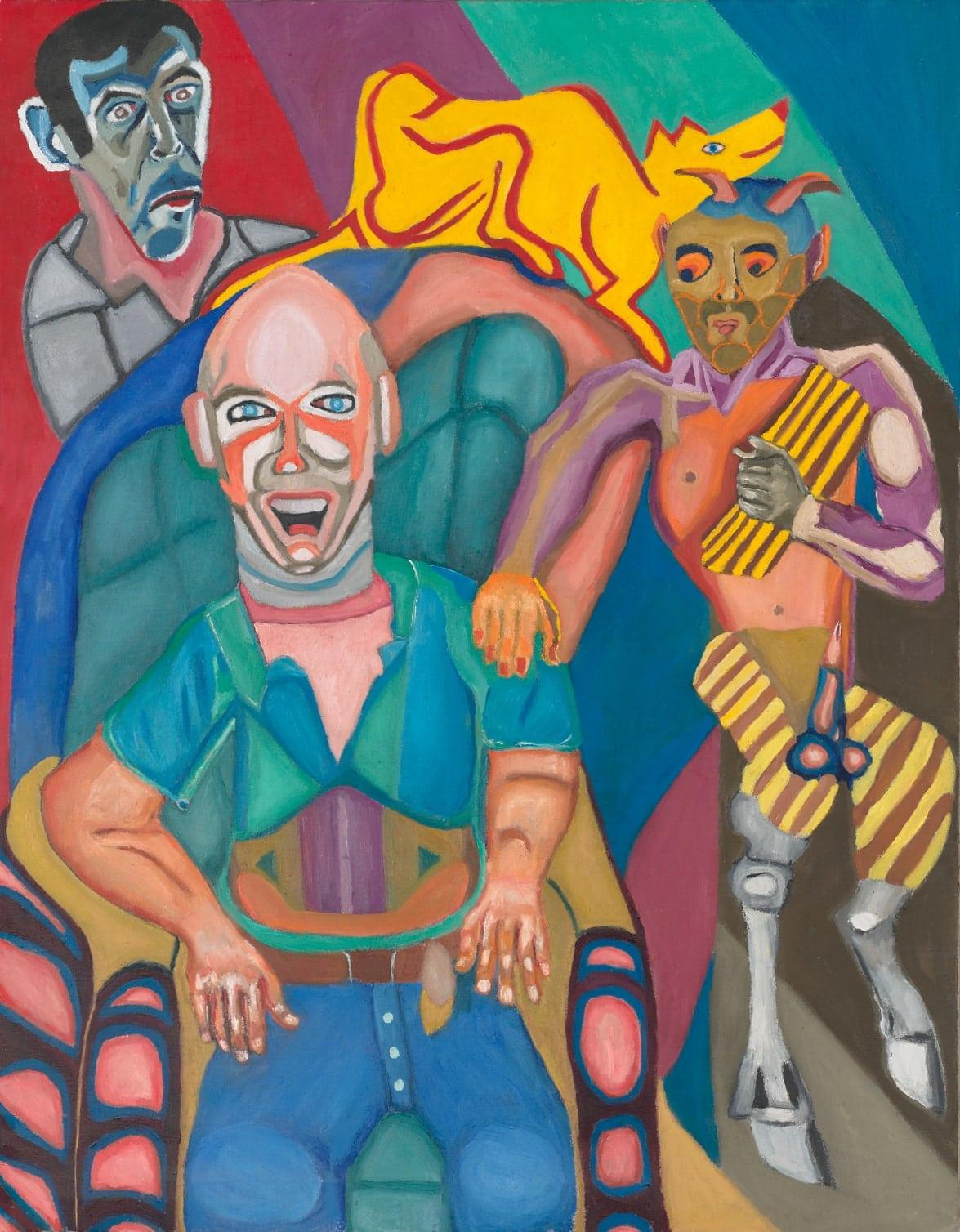 Tableau contemporain - Peinture à l'huile : La tentation de Bruno