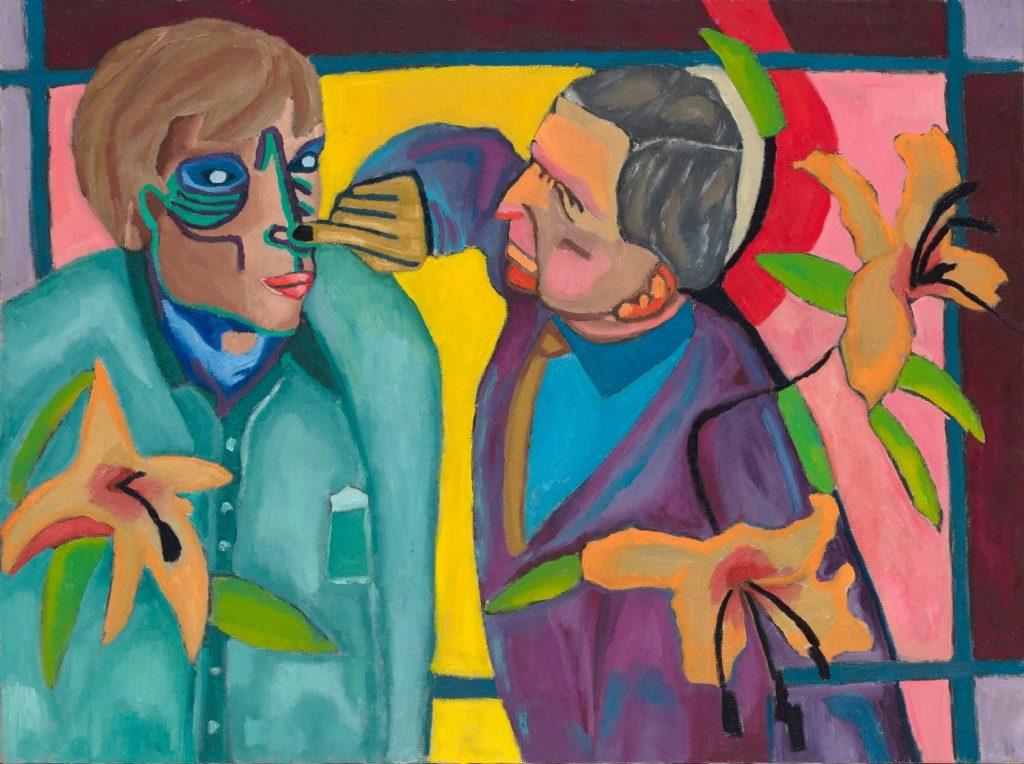 Tableau contemporain - Peinture à l'huile : L'agacement