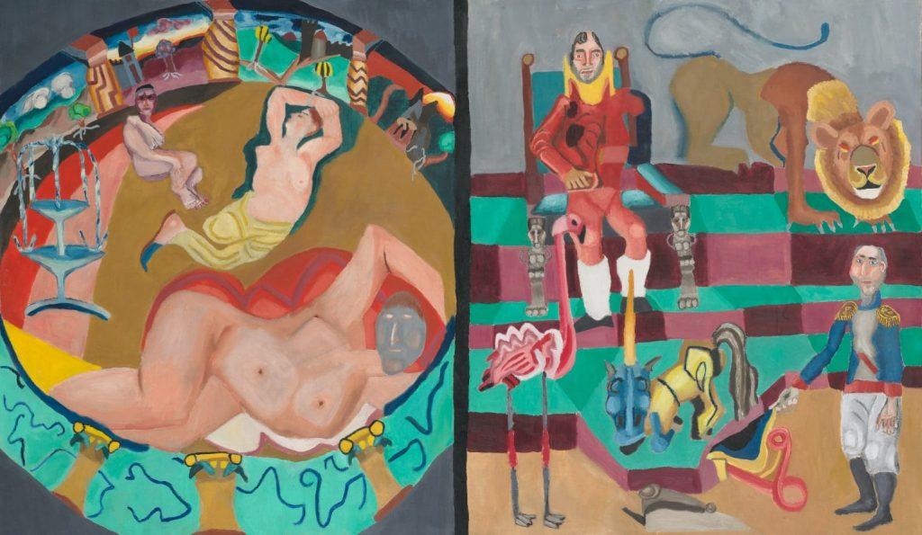 Tableau contemporain - Peinture à l'huile : Bethsabée au bain
