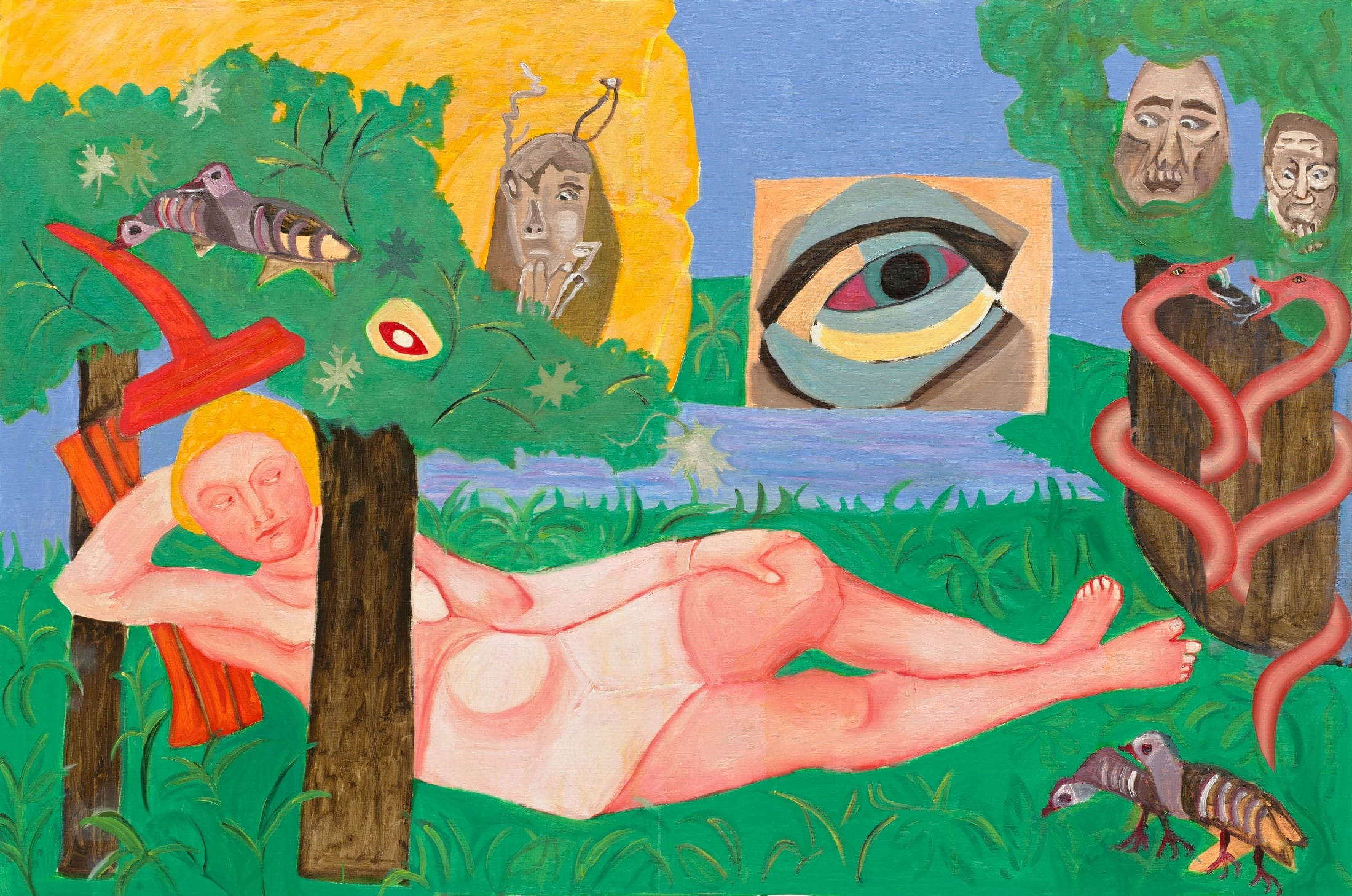 Tableau contemporain - Peinture à l'huile : Suzanne et les Vieillards