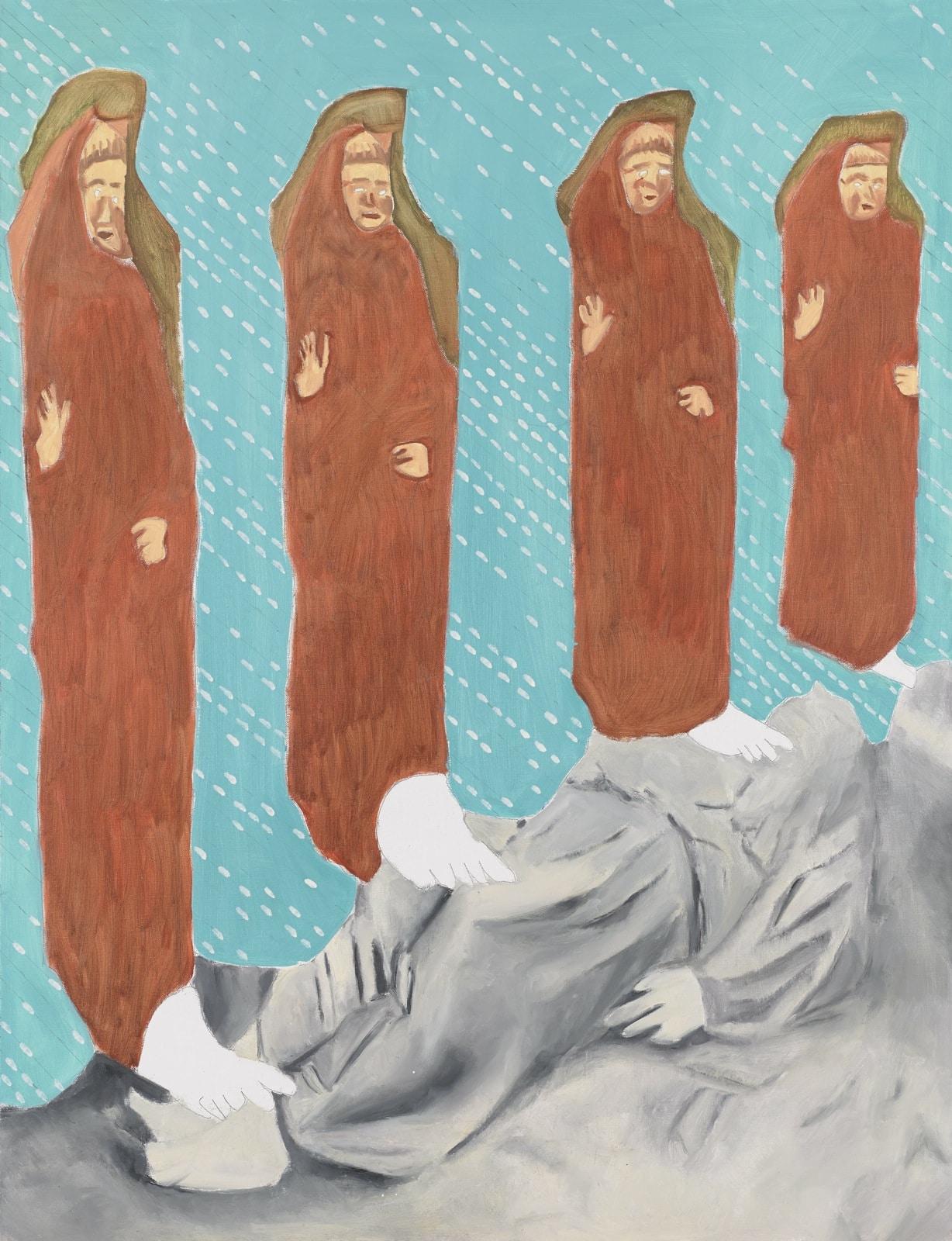 Tableau Religieux de David Kennedy - Artiste Peintre Paris : Extirpation du pêché d'orgueil