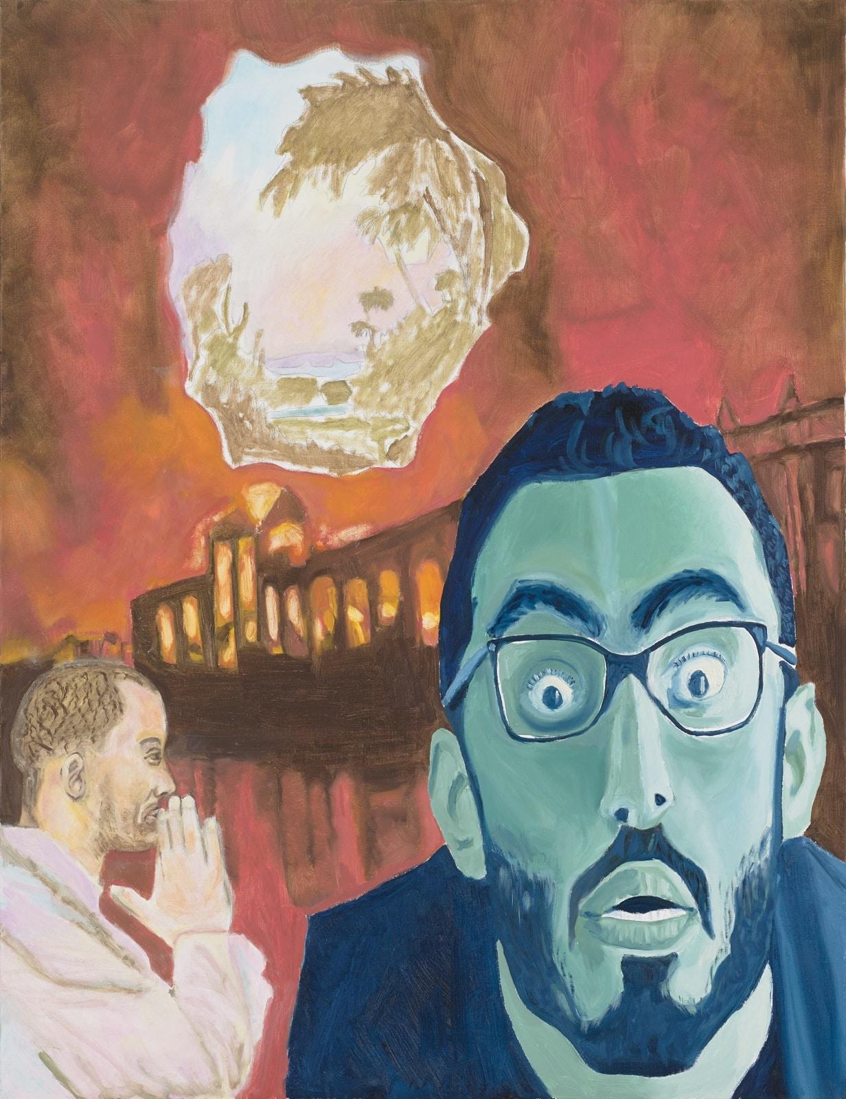 Tableau contemporain - Peinture à l'huile : Ginepro adoucissant le tyran