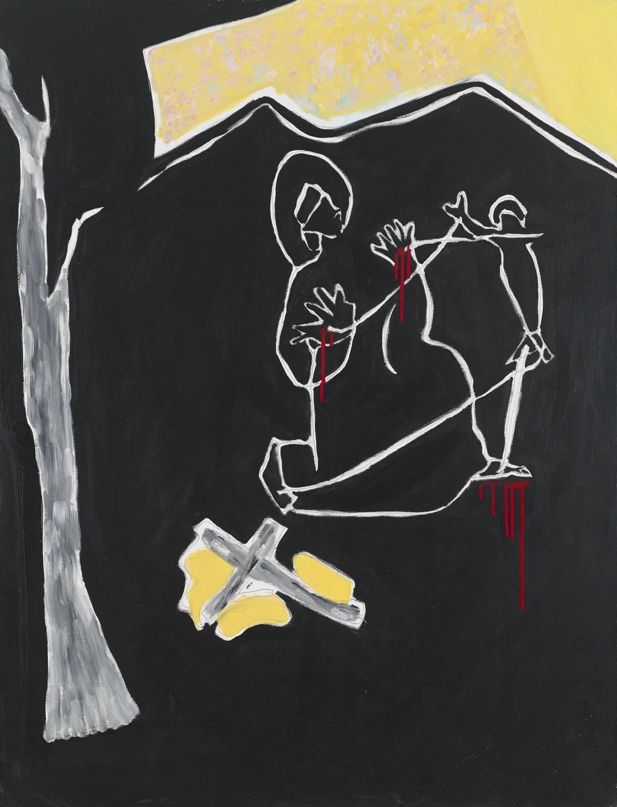 Tableau contemporain - Peinture à l'huile : Saint François recevant les stigmates