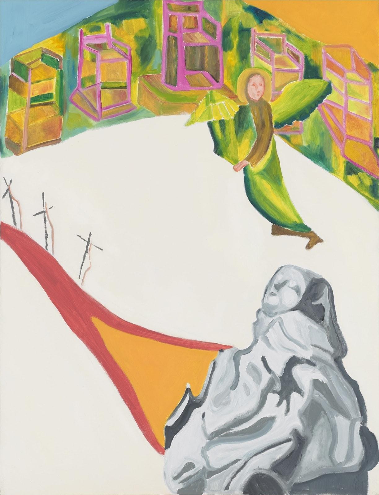 Tableau contemporain - Peinture à l'huile : Saint François en extase devant la Sainte Passion