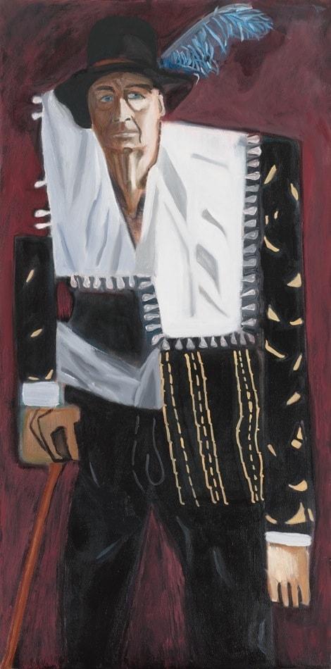 Tableau contemporain - Peinture à l'huile : Francis Baratte en bourgeois hollandais