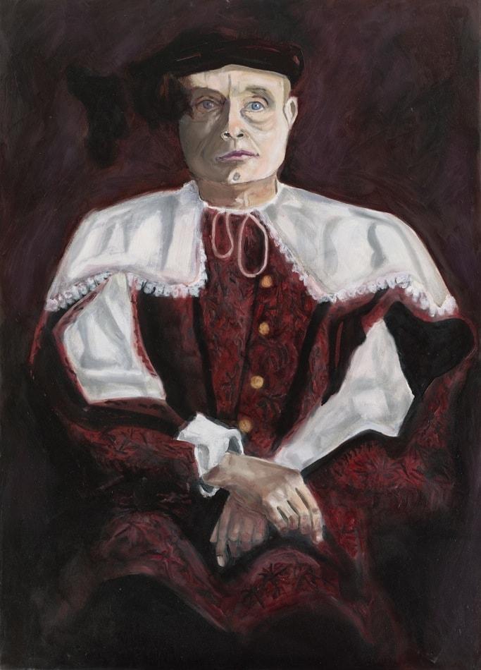 Tableau contemporain - Peinture à l'huile : David Kennedy en bourgeois hollandais