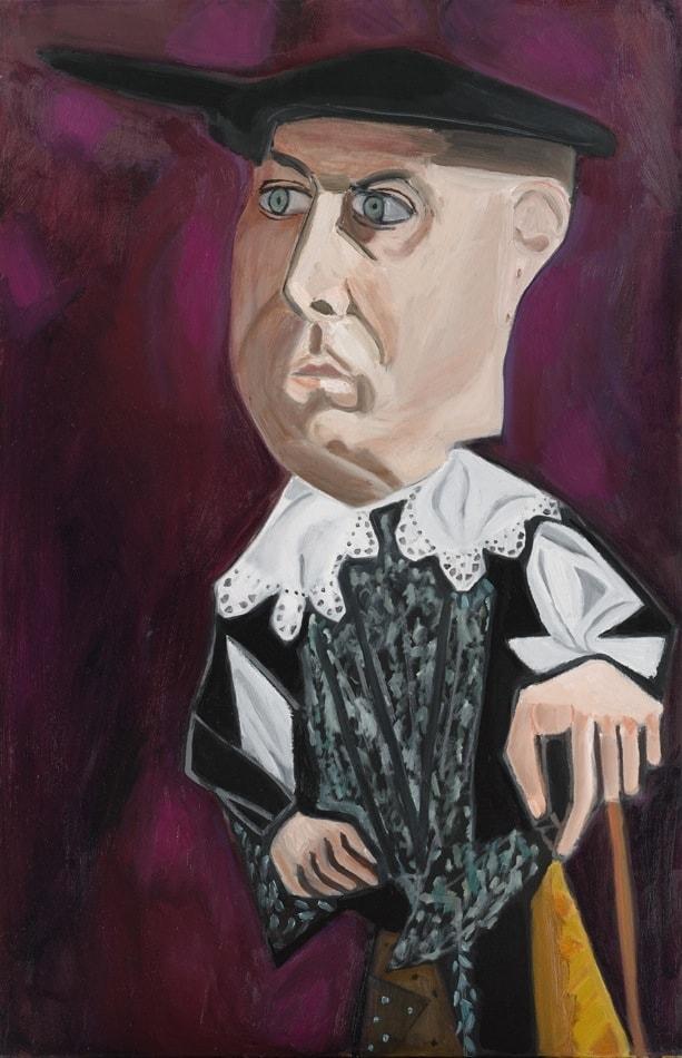 Tableau contemporain - Peinture à l'huile : Nouar en bourgeois hollandais