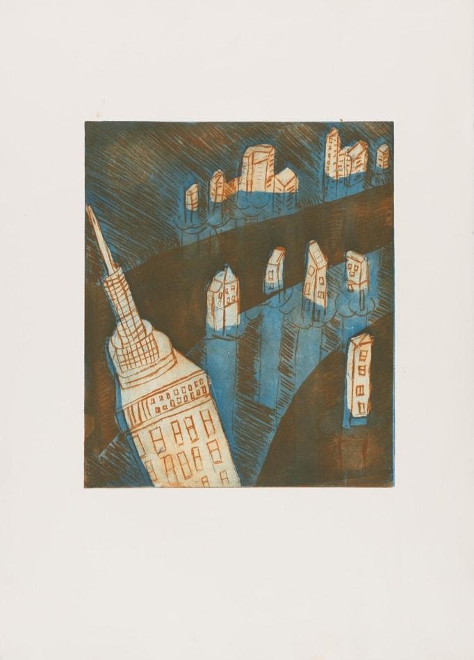 Gravures de David Kennedy - Artiste Peintre Paris : ville inondée