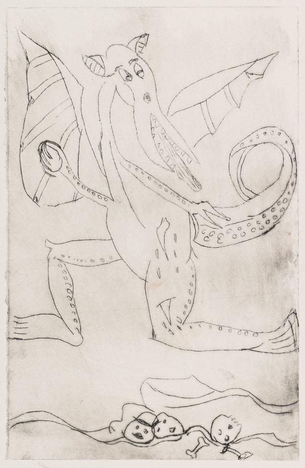 Gravure : Dragon - david kennedy artiste peintre