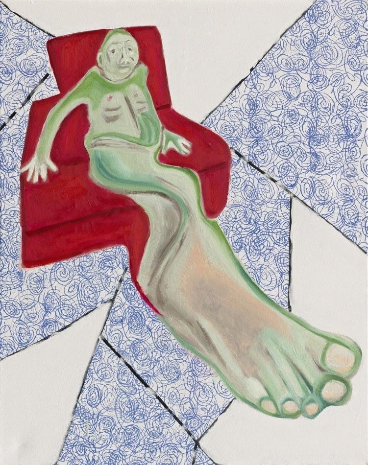 Tableau contemporain - Peinture à l'huile : Le pied malade
