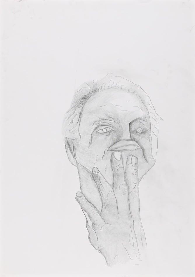 Dessin, crayon : homme