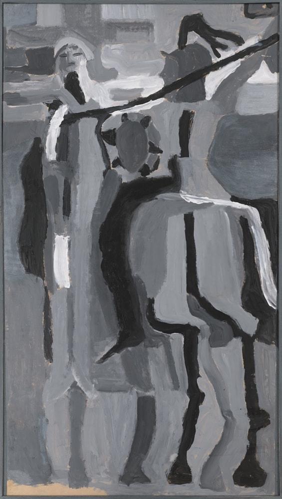 Peinture - Le centurion perçant le Christ - acrylique sur panneau en bois